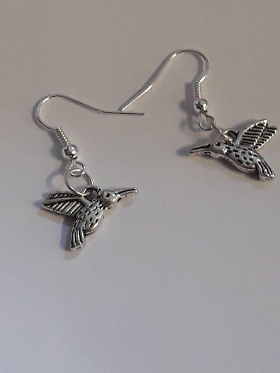 Mocking Bird Earrings Silver