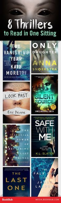 8 thriller books to read in one sitting.