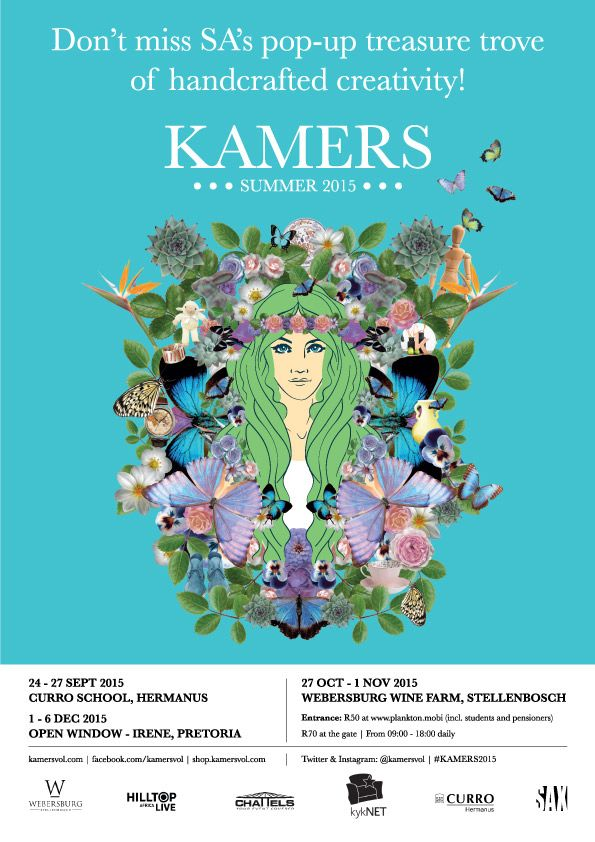Don't miss KAMERS Summer 2015 in Hermanus, 24-27 Sept at Curro School, Stellenbosch 27 Oct - 1 Nov at Webersburg Wine Farm and at Irene, Pretoria 1-6 Dec at Open Window.