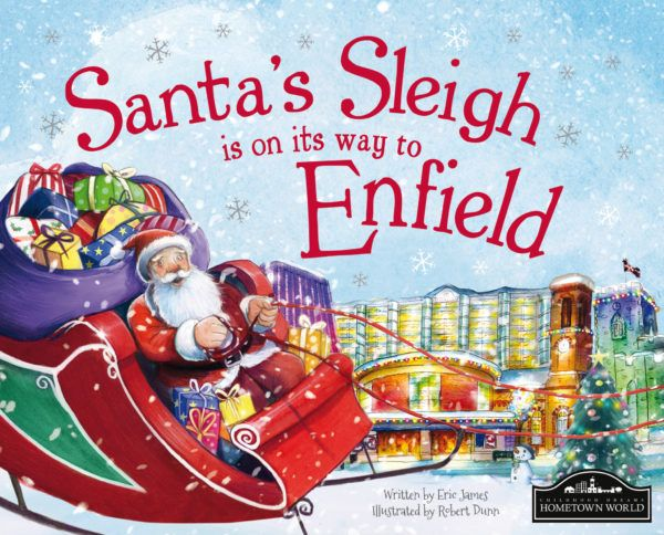 Santa's Sleigh is on its way to Enfield! The perfect Christmas gift for children, a delightful picture story book featuring lots of local places and landmarks that the young reader will recognise.