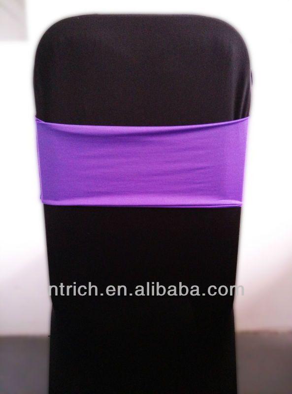 cheap chair covers chair sashes,Gorgeous Spandex Band,Lycra Band,purple $0.5~$0.65