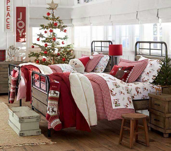 I want Christmas bedding this year.