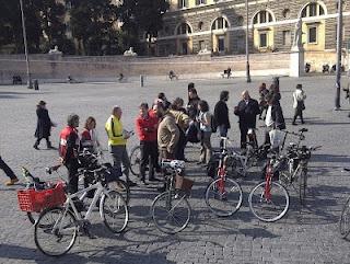 Ciclopranzo a Piazza del Popolo