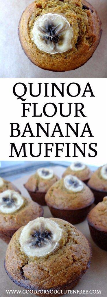 Quinoa Flour Banana Muffins Recipe - Good For You Gluten Free
