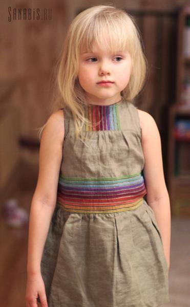 Льняные платье для девочек
