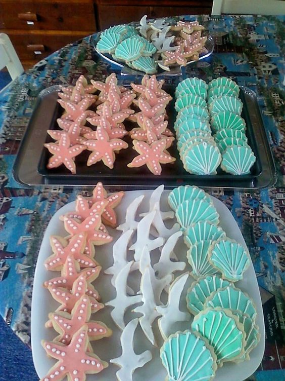 Sea cookies- Claire would flip over these but I'm not sure if they are feasible to get our hands on