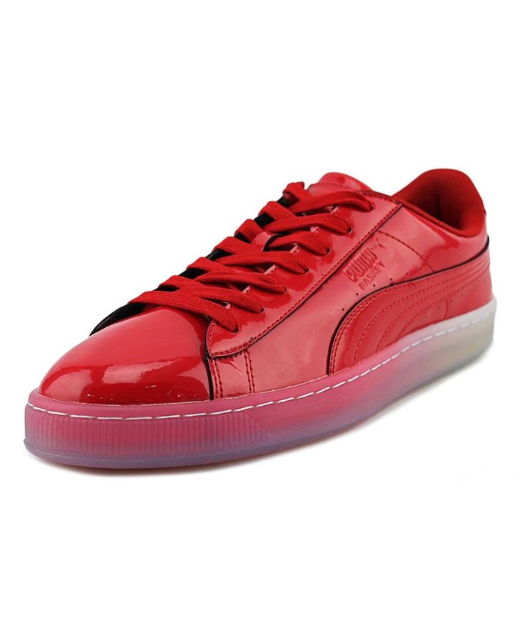 PUMA Puma Basket Patent Ice Fade   Round Toe Synthetic  Sneakers. #puma #shoes #