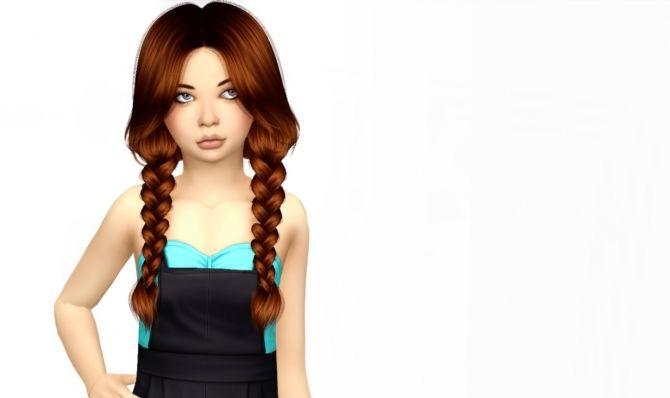 Anto Raindrops Hair Kids Version at Simiracle via Sims 4 Updates