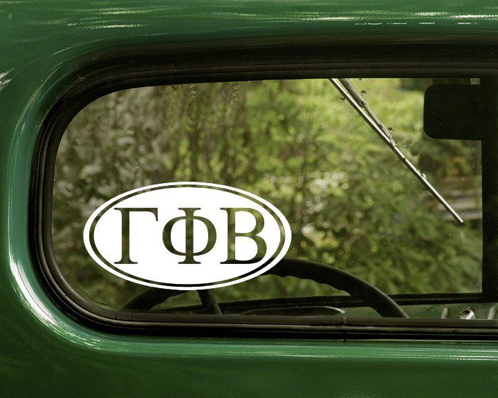 Gamma phi beta decal sticker sorority letter decalscar