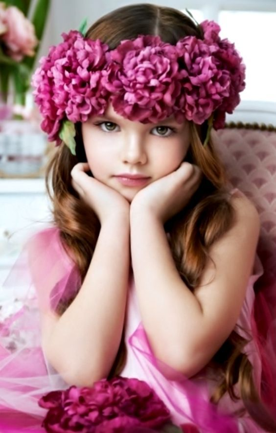 little girls and flowers - Google Search