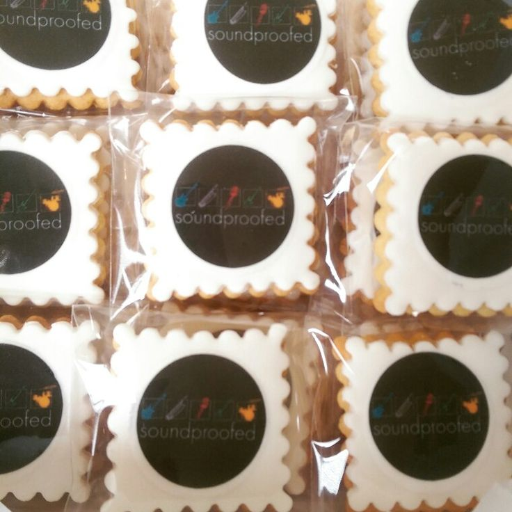 Corporate branded edible logo cookie