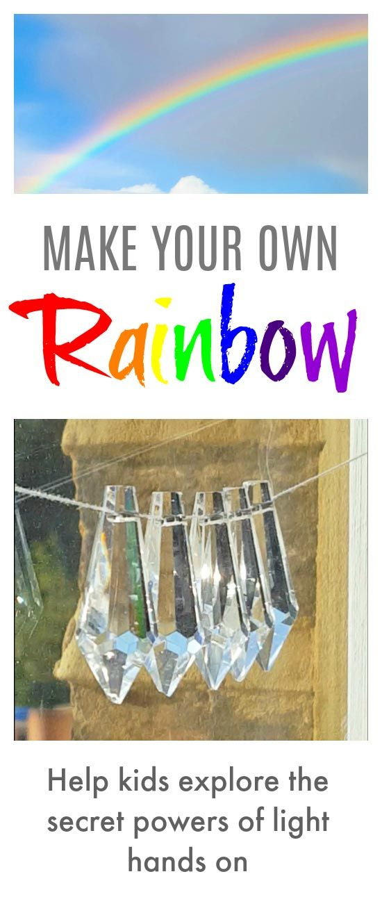 Make rainbows - help kids explore the secret powers of light hands on #rainbows #light #STEAM