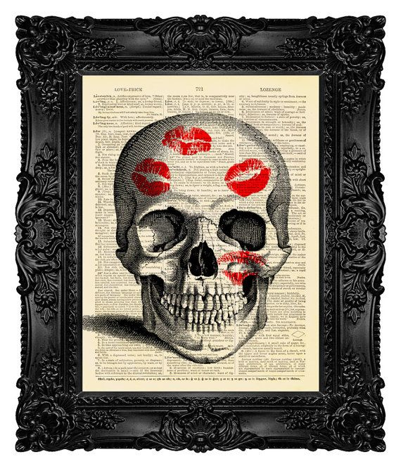 Hey, I found this really awesome Etsy listing at https://www.etsy.com/listing/155293598/love-art-print-love-poster-skull-with