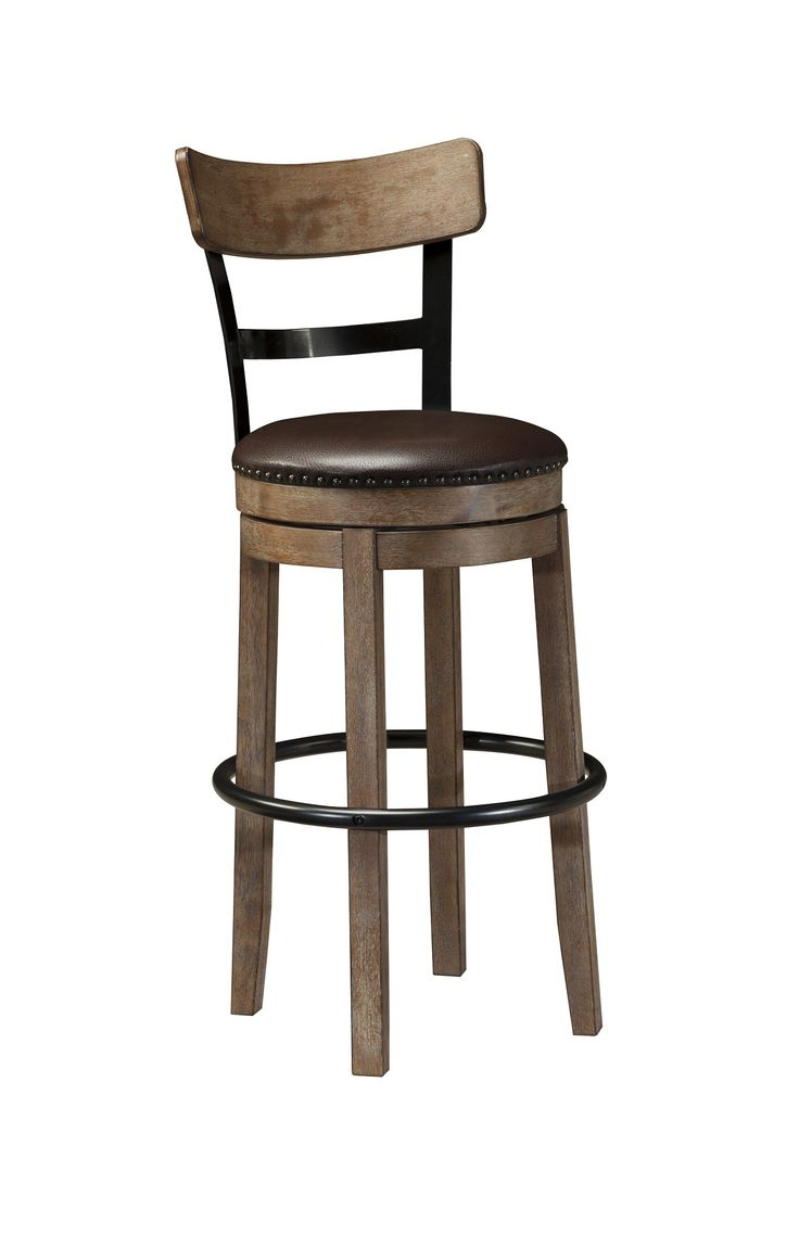 Ashley - Pinnadel D542-130 Wood/Metal Swivel 30
