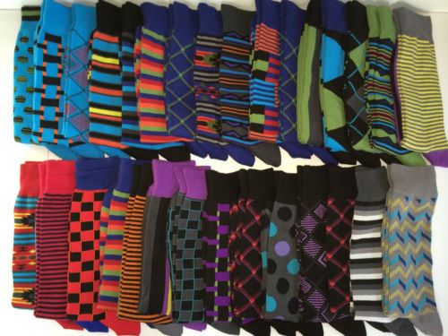 Alex: New Men's Hot Sox Socks Crew Dress Colors Patterns 10 13 Happy Socks | eBay