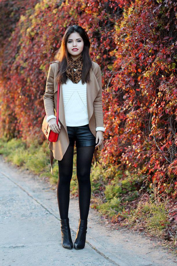Funky blazer, Leather shorts