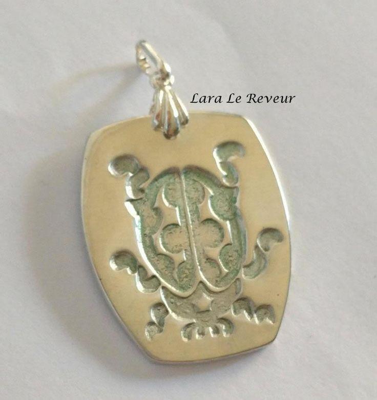 Aussie Metal clay by Lara Le Reveur pendant