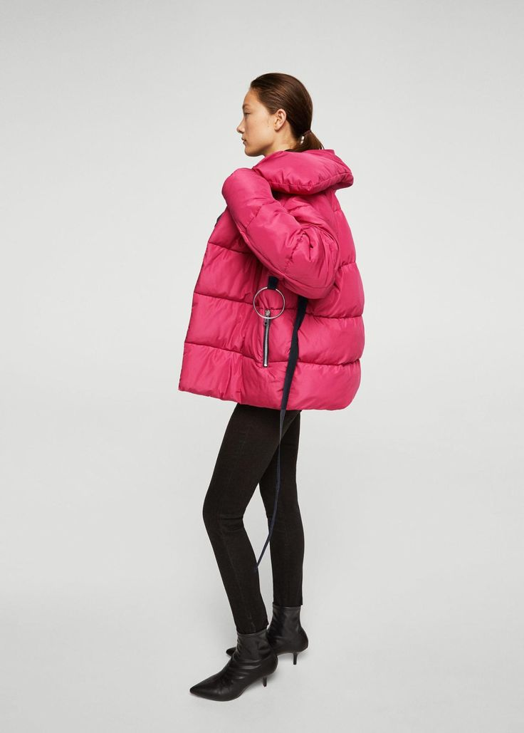Ring Oversize Quilted Coat, $129.99, available at Mango.