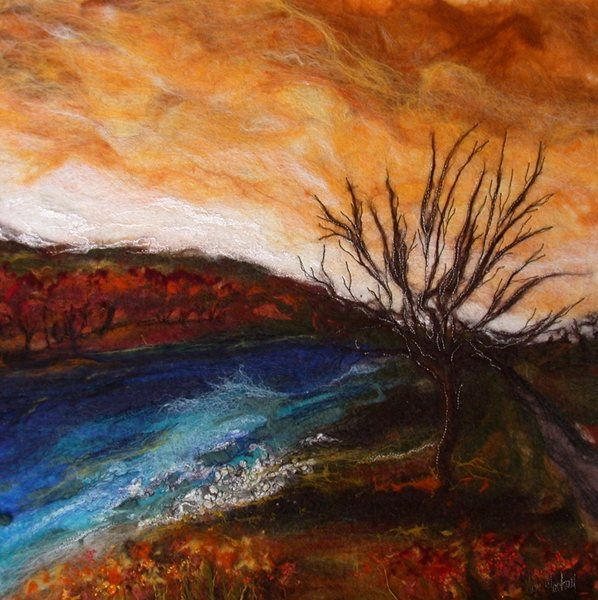 Autumn at Ettrick by Moy Mackay available at http://www.creativeartsgallery.com/art/mixed-media/autumn-at-ettrick/ - £1400