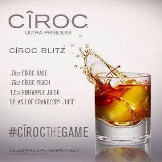 Ciroc Blitz Cocktail #cirocthegame #peach