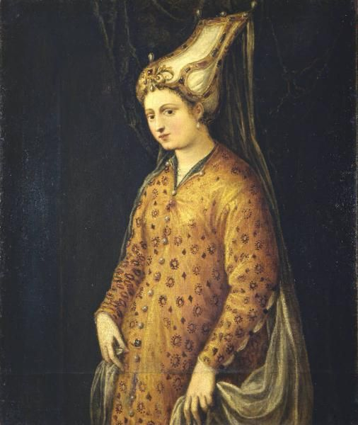 Portrait of a Lady in Oriental Dress by Tintoretto,c. 1560
