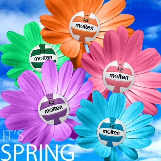 It's SPRING! #volleyball #FlowerPower #LOL