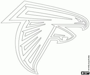 Atlanta Falcons Logo Coloring Page Atlanta Falcon S