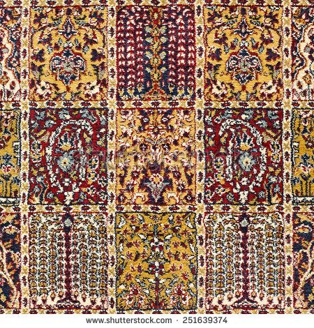 Beautiful ancient colorful carpet