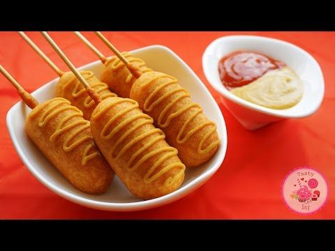 Ооочень вкусные сосиски в тесте (корн-доги). - YouTube