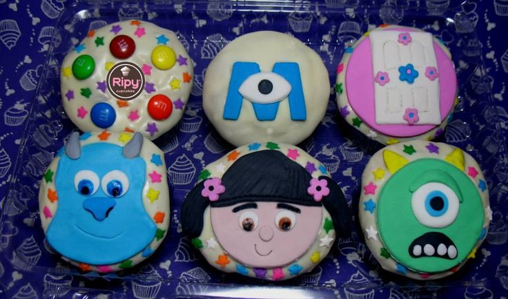 MONSTERS INC.  Contactos Whatsapp : 301 500 63 86 - 301 461 34 58  Correo : ripycupcakes@gmail.com  Twitter : @RiPyCupcakes   PIN : 2A30884C - 2A408233