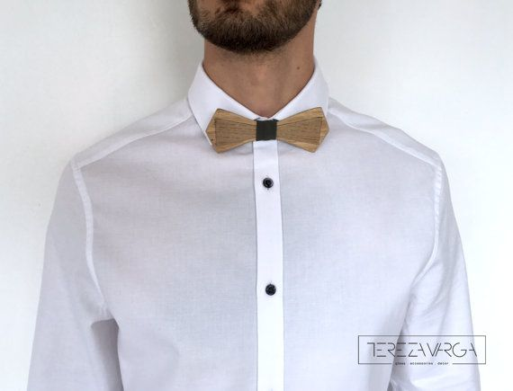 Wooden bow tie Unisex bow tie Hand made Unique gift by terezavarga