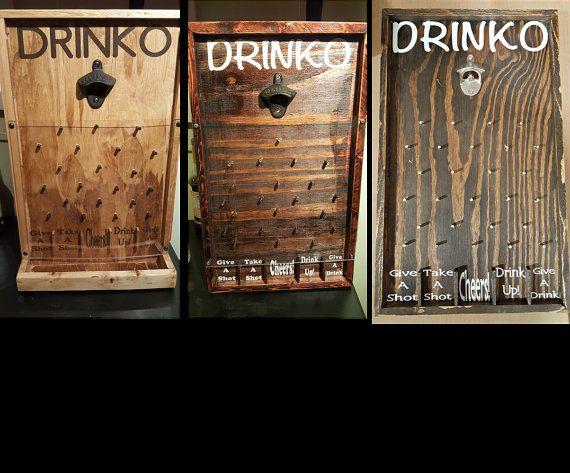 Drinko Plinko bouteille décapsuleur jeu