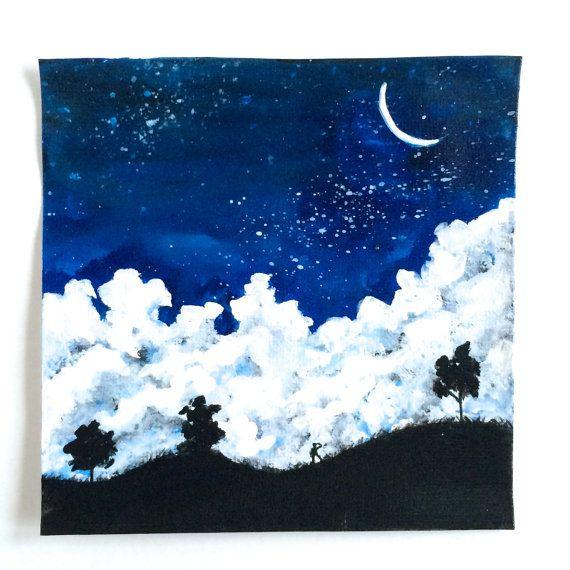 Night Watch Acrylic Painting on Etsy, $50.00