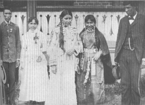 George Bush Otter (Sicangu Lakota), Anna Dawson (Arikara), Susan LaFlesche (Omaha/Ponca/Ioway/French/Euro-American), Rebecca Mazaute (Sisseton Dakota), Charles Picotte (Yankton Dakota) - 1886
