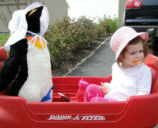 Nothing to see here...just a girl and her BFF, who happens to be a penguin, out for a walk around the 'hood.: Hilarious Davenport, Girls Generation