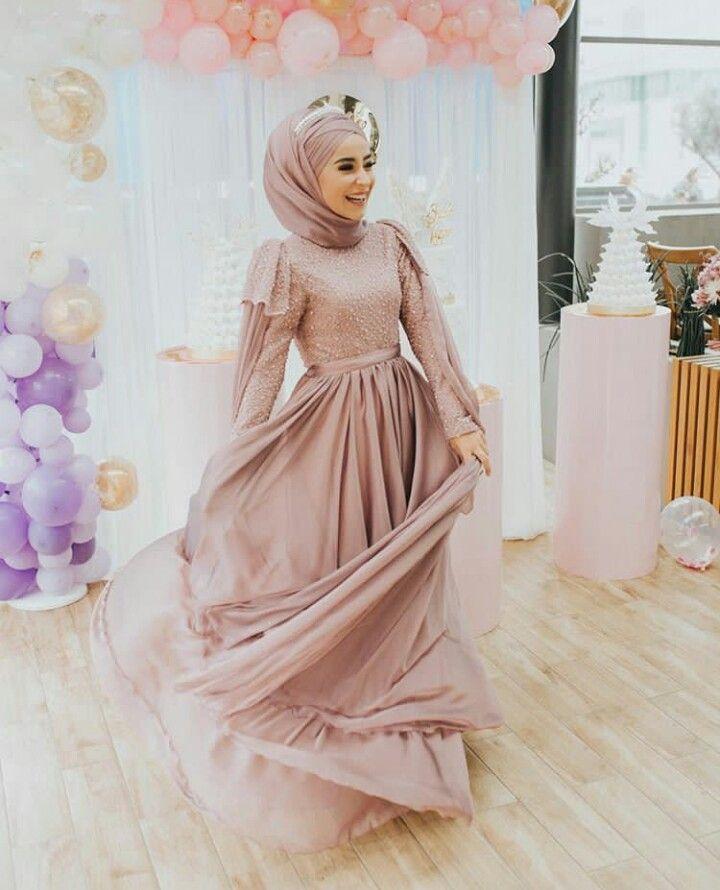be0777413a8a9 Abiye Tesettür   Dress in 2019   Hijab gown, Hijab wedding dresses ...