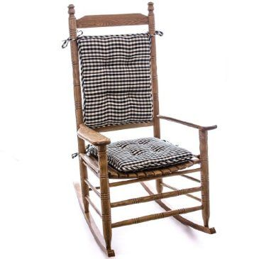 Dress Up Your Rocking Chair With Our Porch Theme Gingham