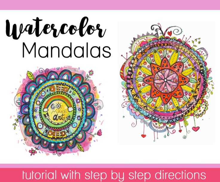 How to Make a Watercolor Mandala