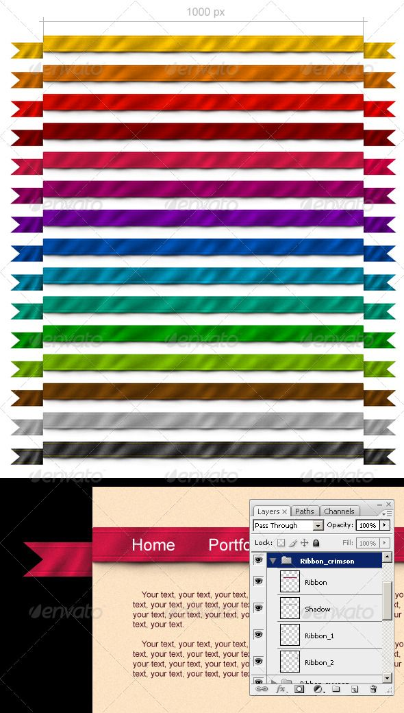15 Ribbons for Your Site  #GraphicRiver         15 ribbons for the website of various colors with drop shadows     Created: 6January11 GraphicsFilesIncluded: PhotoshopPSD Layered: Yes MinimumAdobeCSVersion: CS Tags: black #blue #brown #clean #color #element #form #gold #green #menu #orange #pink #red #ribbon #set #violet #web #webelements #website #yellow