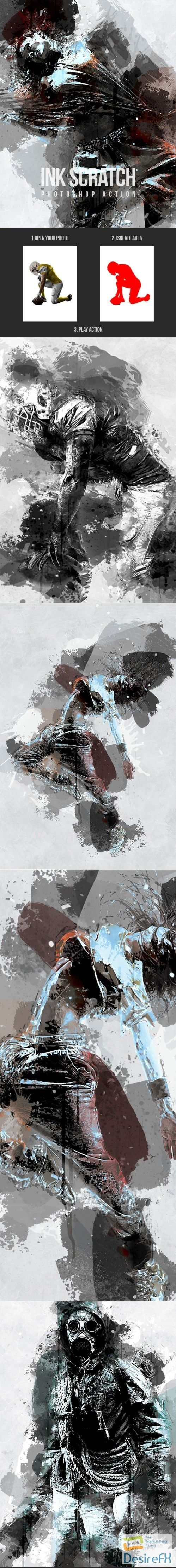 Graphicriver - Ink Scratch - Photoshop Action 21318489