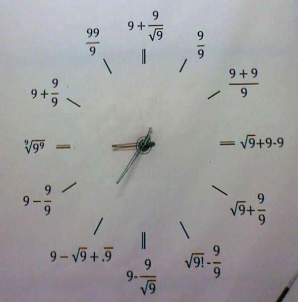 mathematicians clock
