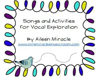Smart Board files and more for vocal exploration in the elementary music classroom!