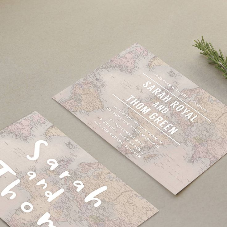 globe trotter wedding stationery by old english company | notonthehighstreet.com