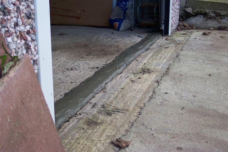 Concrete Ridge To Divert Water Flood Barrier Garage