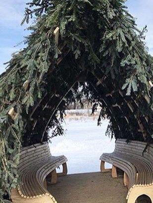 Warming hut on the Red River Mutual Trail, Winnipeg, MB
