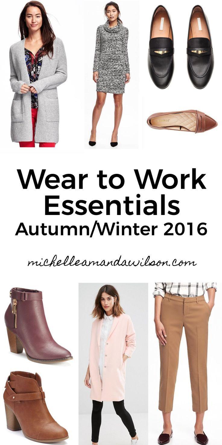 Wear to Work Essentials for Autumn/Winter 2016 - Michelle Amanda Wilson