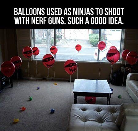 Balloon ninjas.
