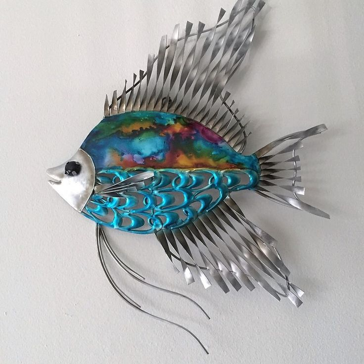 86 best images about fish on pinterest folk art fish for Fish metal wall art