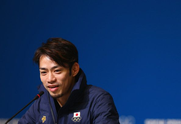 Daisuke Takahashi Photos Photos - Figure skater Daisuke Takahashi of Japan attends the Japan Fugire skating Mne's team press conference during day 3 of the Sochi 2014 Winter Olympics at Main Press Center on February 10, 2014 in Sochi, Russia. - Winter Olympics: Day 3