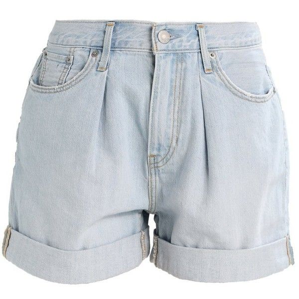 Levi's BAGGY Denim shorts (300 MYR) ❤ liked on Polyvore featuring shorts, short jean shorts, short denim shorts, jean shorts, levi shorts and denim shorts